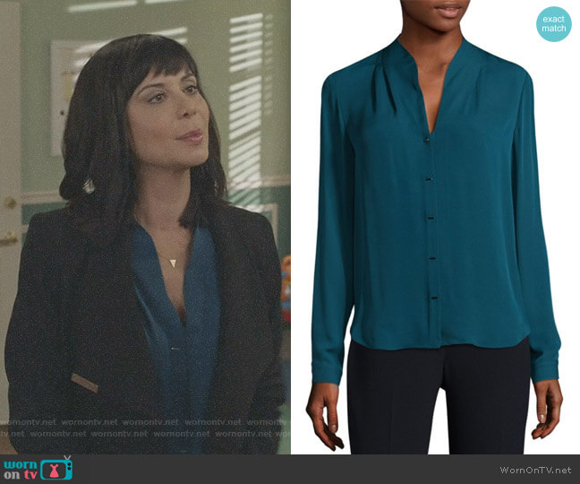 Bea Silk Blouse by Elie Tahari worn by Cassandra Nightingale (Catherine Bell) on Good Witch