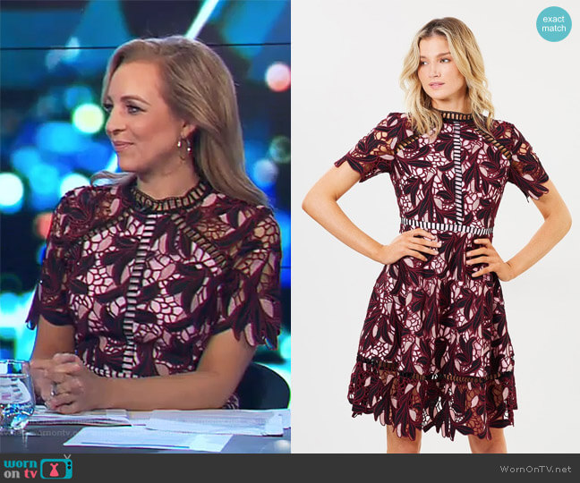 Montague Dress by Elliatt worn by Carrie Bickmore  on The Project