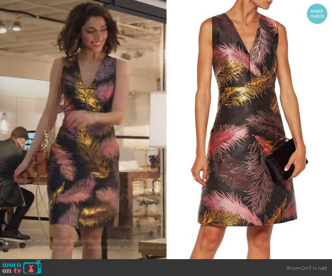 Metallic jacquard mini dress by Emilio Pucci worn by Necar Zadegan on GG2D