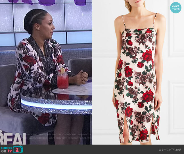 'Kelby' Midi Dress by Equipment worn by Tamera Mowry on The Real