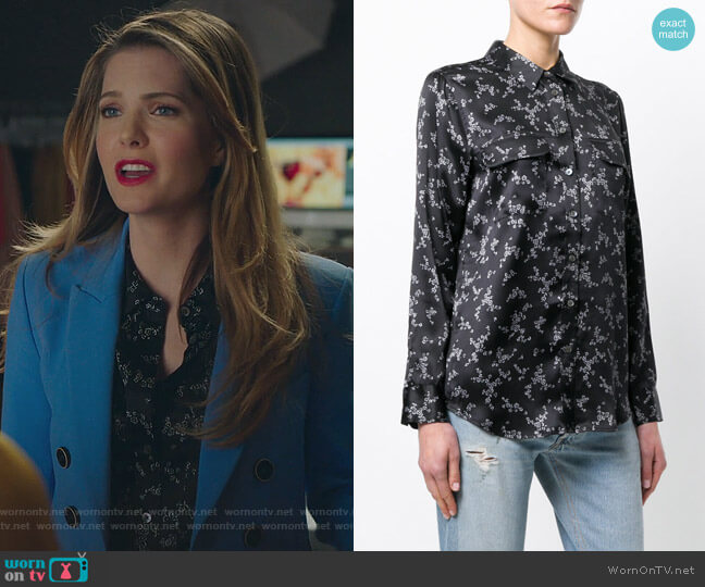 Floral Print Shirt by Equipment worn by Sutton (Meghann Fahy) on The Bold Type