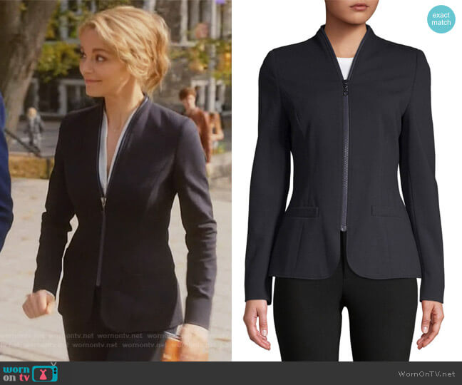 Casual Blazer by Escada worn by Lizzie Needham (Bojana Novakovic) on Instinct