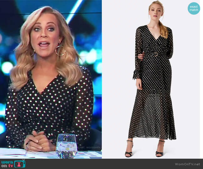 Gwendolyn Starlight Maxi Dress by Forever New worn by Carrie Bickmore on The Project