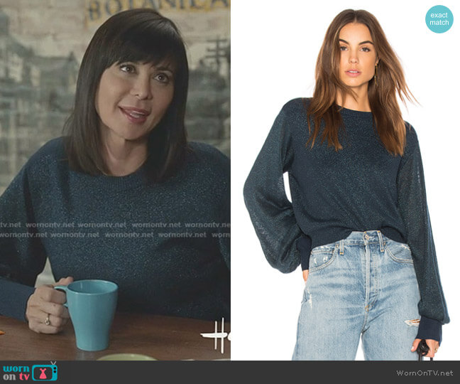 Let It Shine Sweater by Free People worn by Cassandra Nightingale (Catherine Bell) on Good Witch