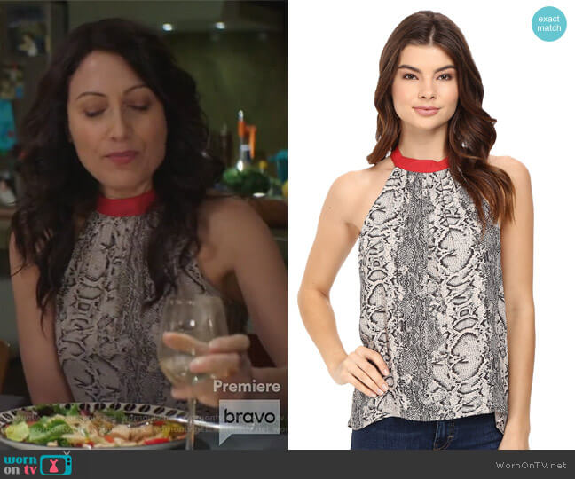 Printed Through The Night Tank Top by Free People worn by Lisa Edelstein on GG2D