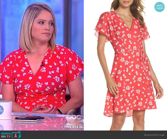 Frances Verona Dress by French Connection worn by Sara Haines  on The View