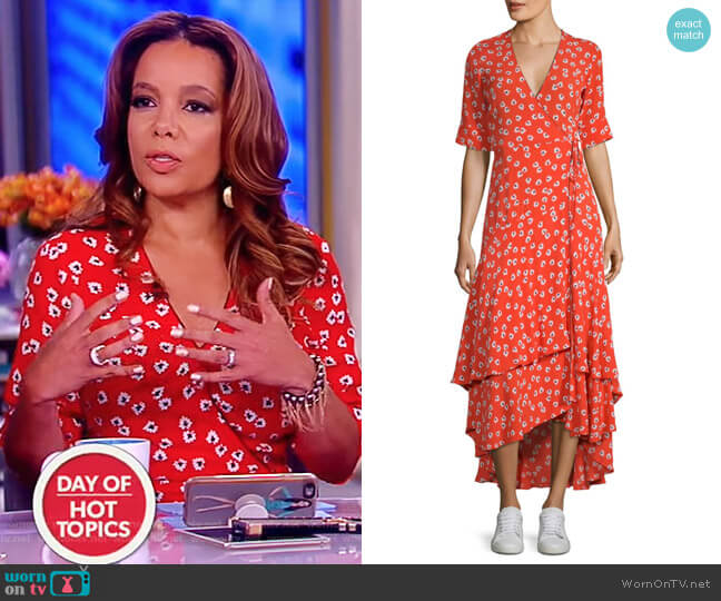 Floral Wrap Dress by Ganni worn by Sunny Hostin  on The View