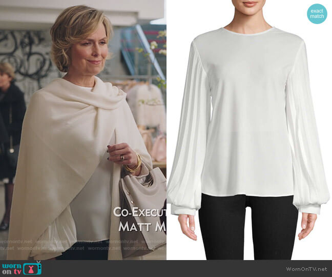 Pleated Blouse by Georgia Hardinge worn by Jacqueline (Melora Hardin) on The Bold Type