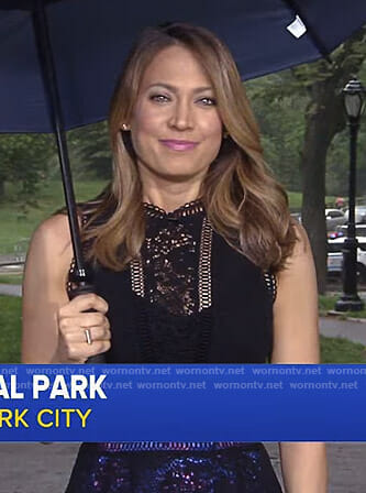 Ginger's black peplum lace top on Good Morning America