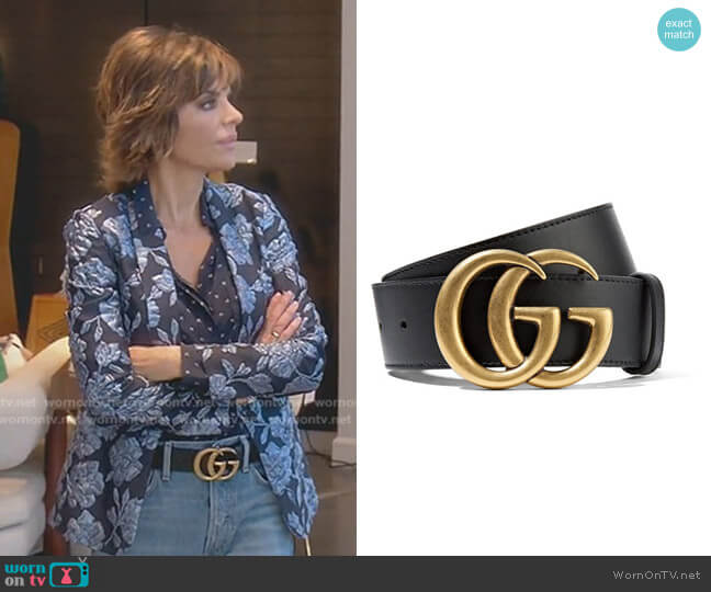Leather Belt by Gucci worn by Lisa Rinna (Lisa Rinna) on The Real Housewives of Beverly Hills