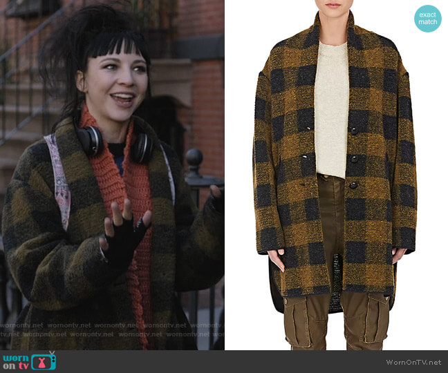 Gino Checked Wool-Blend Coat by Isabel Marant Etoile worn by Erin Darke on Dietland