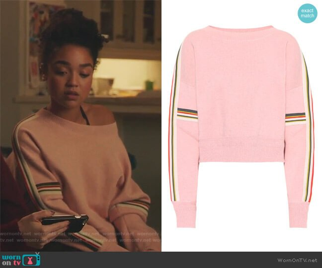 Kao Cotton-Blend Sweater by Isabel Marant Etoile worn by Kat Edison (Aisha Dee) on The Bold Type