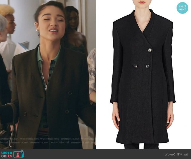 Dias Wool-Blend Coat by Isabel Marant worn by Aisha Dee on The Bold Type