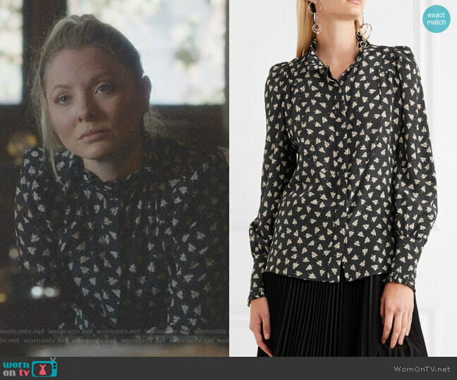 Sloan Printed Silk-Chiffon Blouse by Isabel Marant worn by Kaitlin Doubleday on Nashville