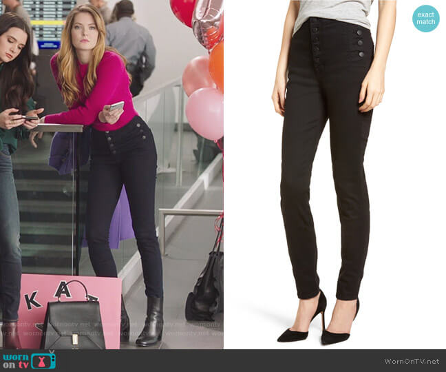 Natasha Photoready High Waist Skinny Jeans by J Brand worn by Meghann Fahy on The Bold Type