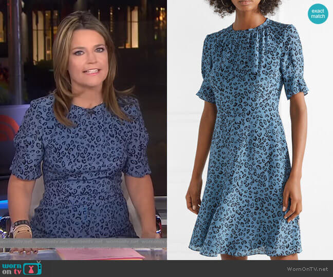 'Jae' Leopard-Print Silk Dress by Altuzarra worn by Savannah Guthrie on Today