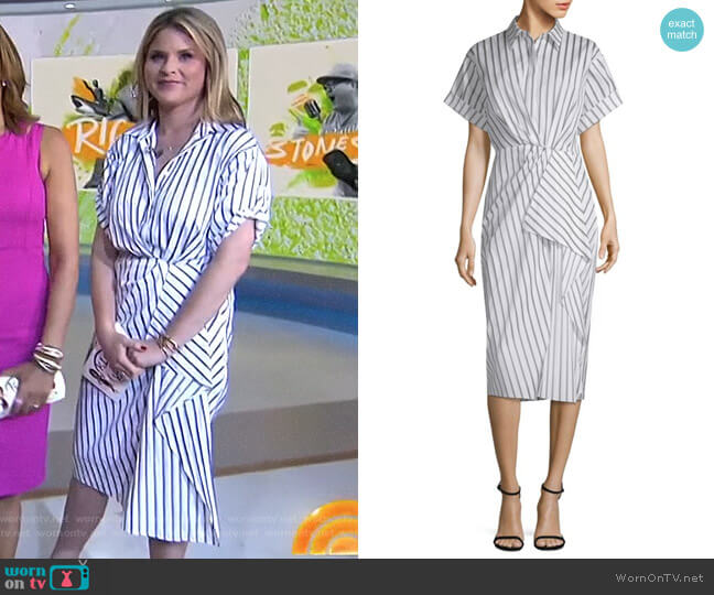 Dobby Striped Cotton Shirtdress by Jason Wu worn by Jenna Bush Hager  on Today