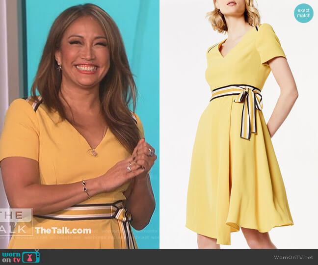 Belted Midi Dress by Karen Millen worn by Carrie Inaba  on The Talk