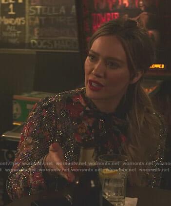 Kelsey's floral embellished blouse on Younger