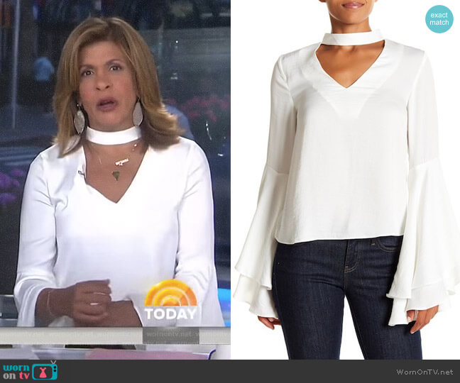 Mock-Neck Bell-Sleeve Blouse by Kendall + Kylie worn by Hoda Kotb on Today