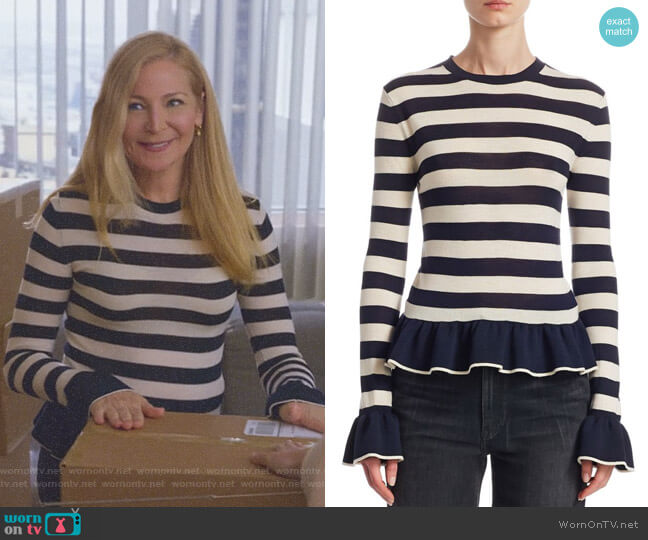 Claudia Wool Sweater by Khaite worn by Pauline (Jennifer Westfeldt) on Younger