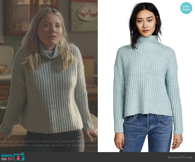 Ribbed Turtleneck Pullover by La Vie Rebecca Taylor worn by Jessie Caine (Kaitlin Doubleday) on Nashville