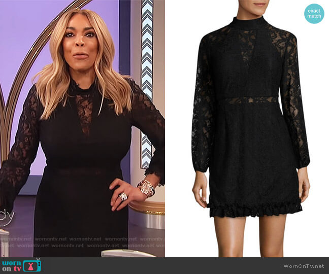 Lace Mini Dress by Laundry by Shelli Segal worn by Wendy Williams  on The Wendy Williams Show