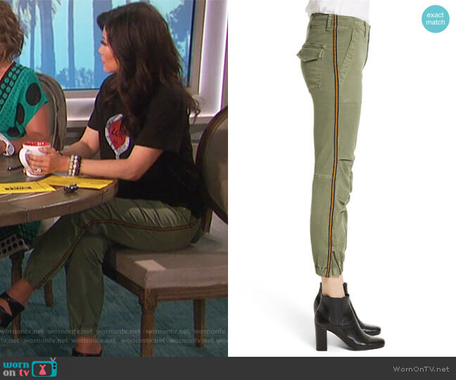 French Crop Military Pants by Nili Lotan worn by Julie Chen  on The Talk
