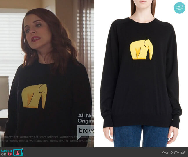 Jacquard Elephant Sweater by Loewe worn by Jo (Alanna Ubach) on GG2D