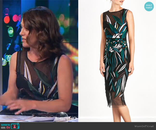Lucerne Shift Dress by Moss & Spy  worn by Gorgi Coghlan  on The Project