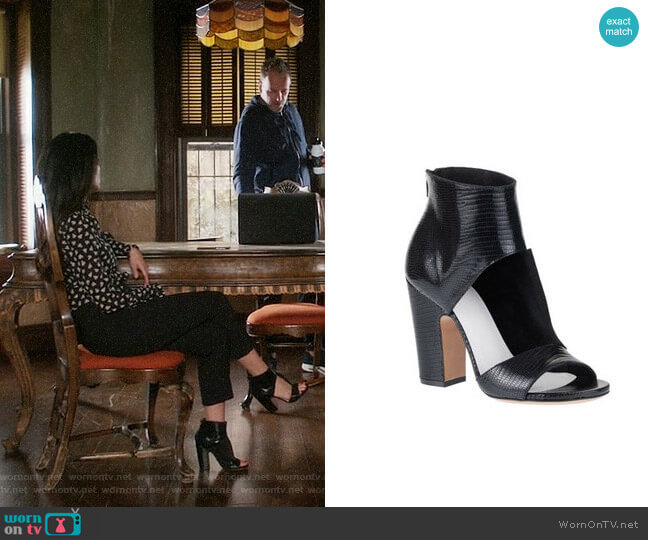 Maison Margiela Cutout Sandal worn by Lucy Liu on Elementary