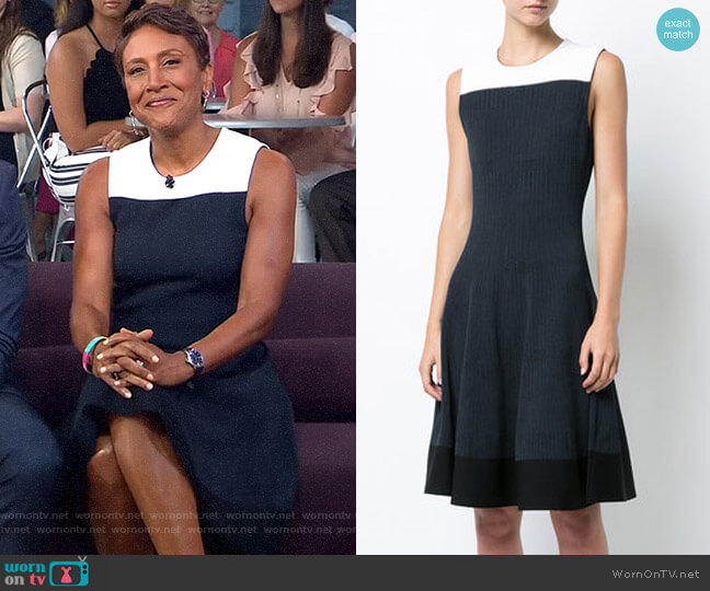 Flared Knitted Dress by Narciso Rodriguez worn by Robin Roberts (Robin Roberts) on Good Morning America