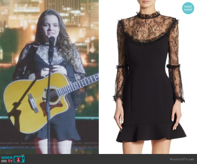 Lace Crepe Mini Dress by Nicholas worn by Daphne Conrad (Maisy Stella) on Nashville