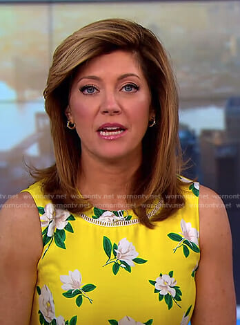 Norah's yellow floral dress on CBS This Morning