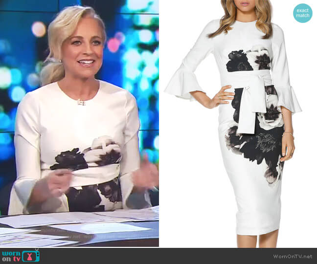 Caboodle Sleeve Midi by Pasduchas worn by Carrie Bickmore  on The Project
