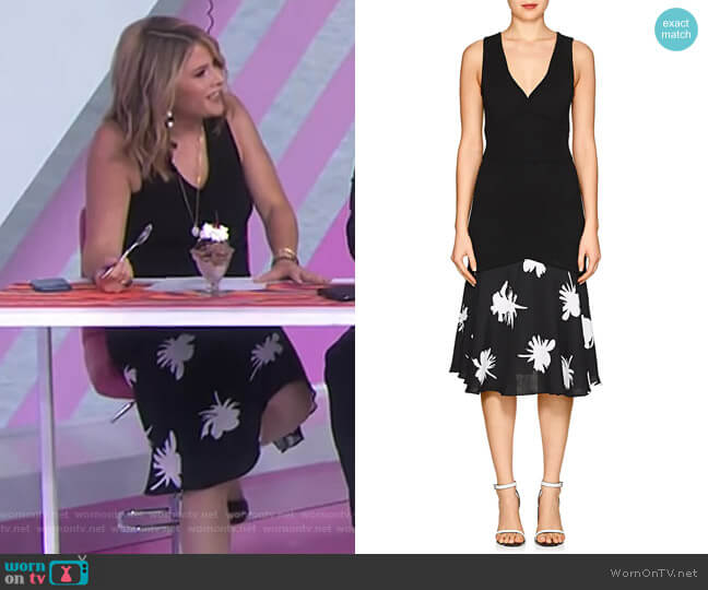 Rib-Knit Drop-Waist Dress by Prabal Gurung worn by Jenna Bush Hager  on Today