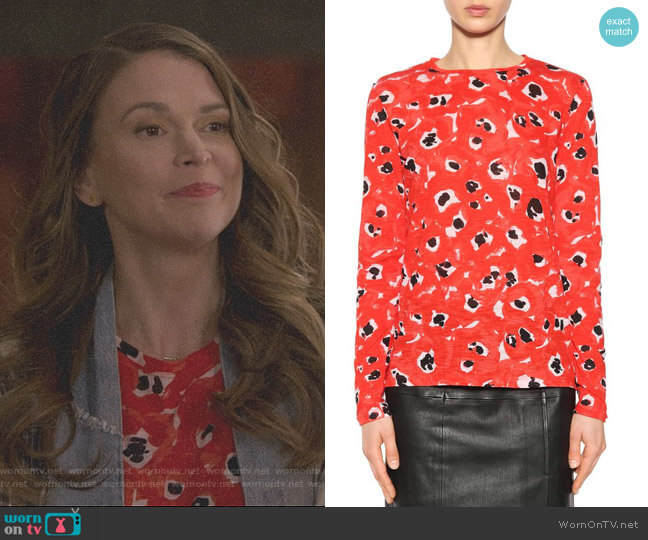 Printed Cotton Top by Proenza Schouler worn by Liza Miller (Sutton Foster) on Younger