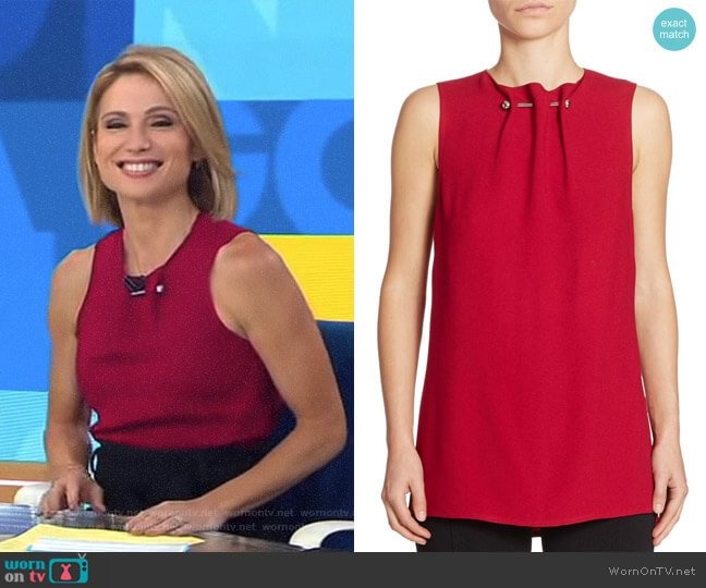 Sleeveless Barbell Top by Proenza Schouler worn by Amy Robach (Amy Robach) on Good Morning America