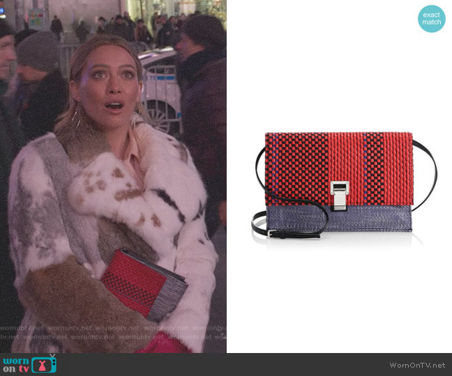 Small Textured Leather Lunch Bag by Proenza Schouler worn by Kelsey Peters (Hilary Duff) on Younger