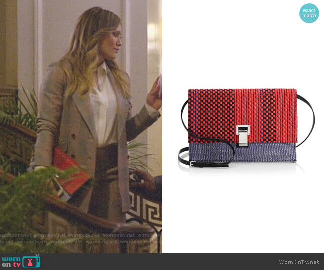 Woven Small Lunch Bag by Proenza Schouler worn by Kelsey Peters (Hilary Duff) on Younger