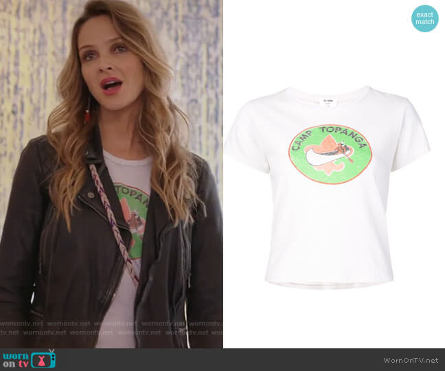 'Camp Topanga' T-shirt by Re/Done worn by Beau Garrett on GG2D