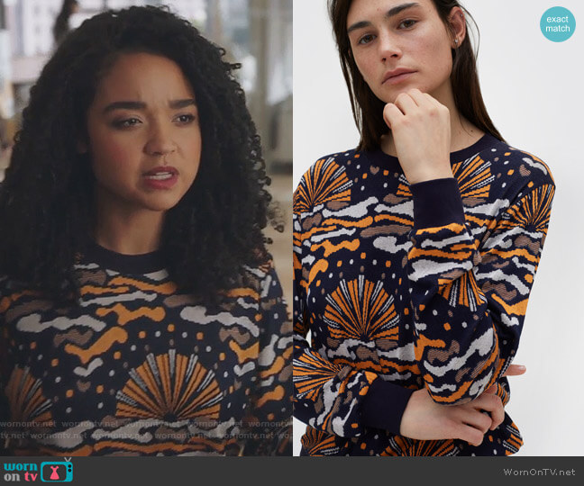 Wells Sweater by Rodebjer worn by Aisha Dee on The Bold Type