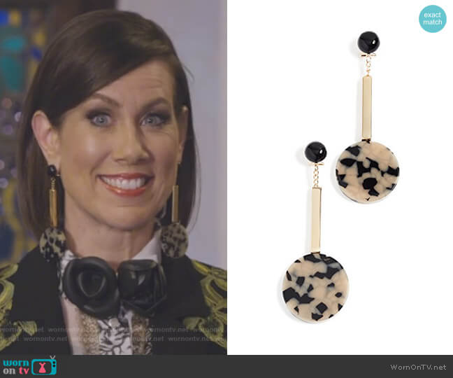 Jo Earrings by Rachel Comey worn by Diana Trout (Miriam Shor) on Younger