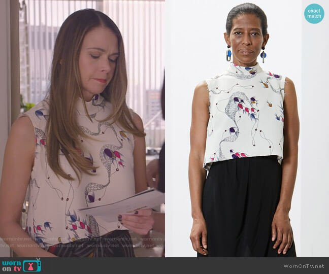 Cropped Una Top by Rachel Comey worn by Sutton Foster on Younger