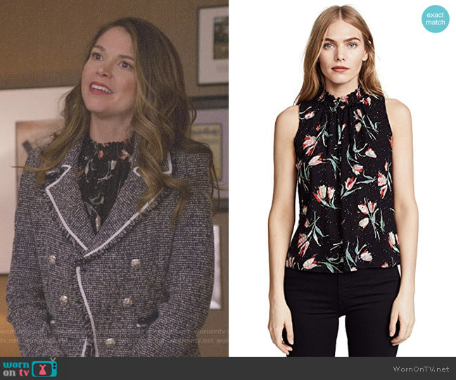 'Ikat' Smock Top by Rebecca Taylor worn by Liza Miller (Sutton Foster) on Younger