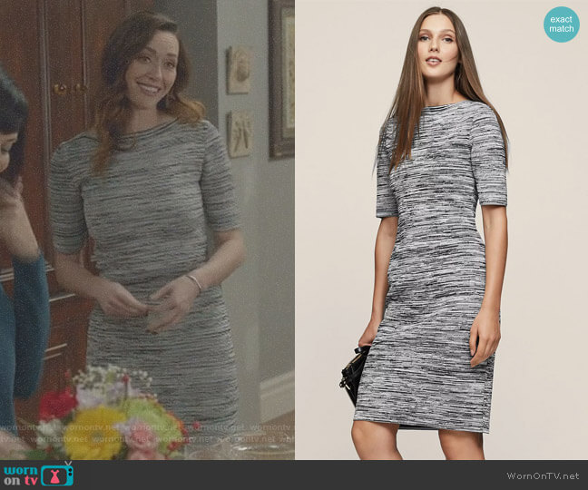 'Harry' Dress by Reiss worn by Sarah Power on Good Witch