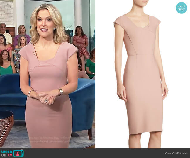 Hirta Asymmetric Dress by Roland Mouret worn by Megyn Kelly on Today