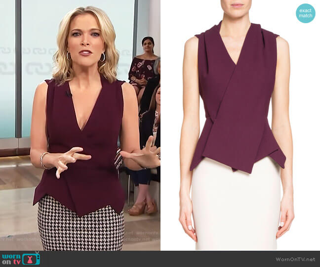 'Zillow' Sleeveless Pleated Top by Roland Mouret worn by Megyn Kelly on Today