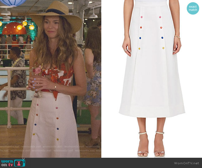'Candy' Cotton Twill Sailor Skirt by Saloni worn by Liza Miller (Sutton Foster) on Younger