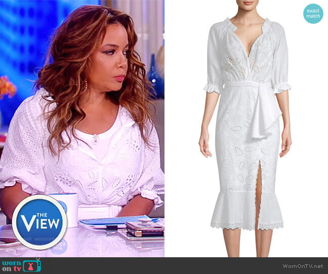 Olivia Midi Dress by Saloni worn by Sunny Hostin on The View